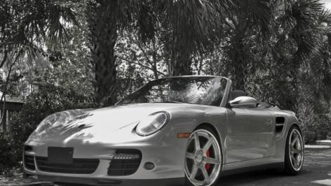 Porsche 997 Turbo on ADV6 Track Spec