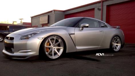 Nissan GT-R on ADV08 Track Spec