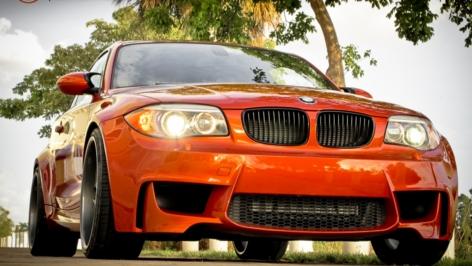 BMW Valencia Orange 1M on HRE 590RS Wheels