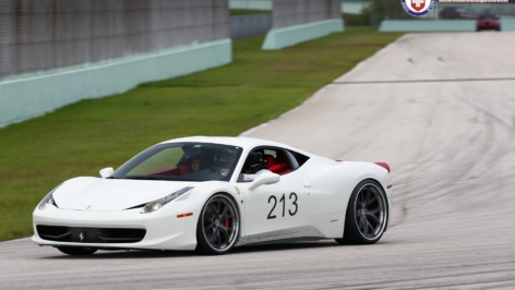Ferrari 458 on HRE S101 at the Track
