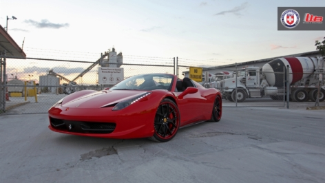Ferrari 458 Spider on HRE S101