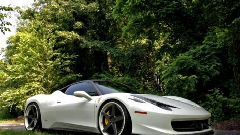 Ferrari 458 with Vorsteiner Carbon Body Pieces