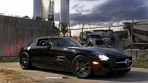 Mercedes SLS AMG on ADV10TS
