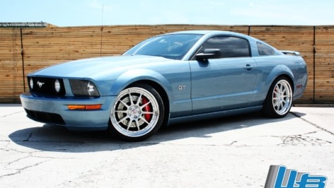 Ford Mustang GT on HRE Comp 93
