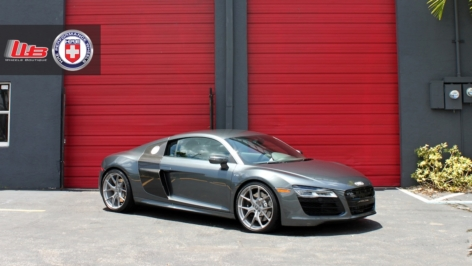 Audi R8 on HRE P101 – Titanium