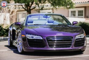 Audi R8 Velvet Purple on HRE P40SC