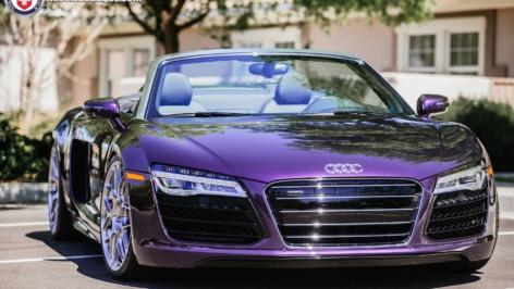 Audi R8 Velvet Purple on HRE P40SC