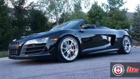 Audi R8 Spyder on HRE S101