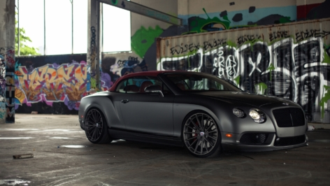Bentley Continental GTC on HRE P103