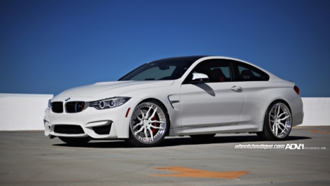 BMW M4 on White ADV005 TS CS
