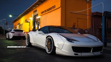 Ferrari 458 Liberty Walk on ADV5 Track Spec SL