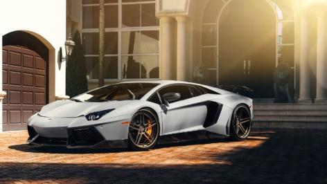 Lamborghini Aventador on ADV05 Track Spec CS