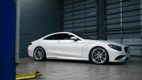 Mercedes Benz S63 Coupe on HRE S204