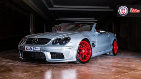 Mercedes SL55 on HRE P40