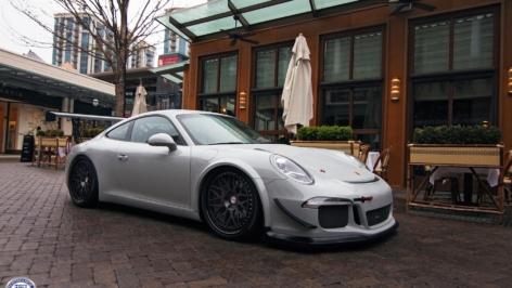 Porsche 991 Cup Car Conversion on HRE Classic 300
