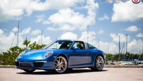 Porsche 991 Targa 4 on HRE P101