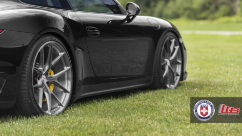 Porsche 991 Turbo on HRE P101 – Brushed Dark Clear