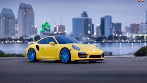 Porsche 991TTS on HRE 501M – Blue
