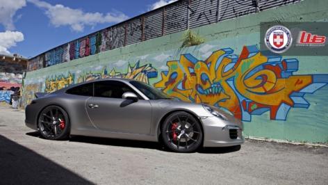 Porsche 991 S Ducktail on HRE P101