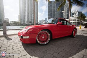 Porsche 993 Turbo on HRE Vintage 501