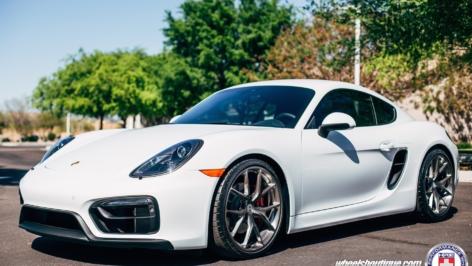 Porsche Cayman GTS on HRE P101