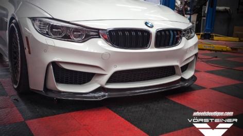 BMW M4 with Vorsteiner GTS Front Spoiler
