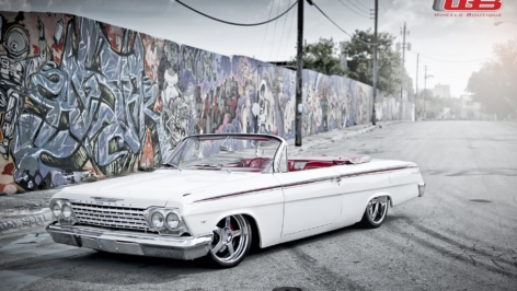 Chevy Impala Convertible on HRE 565R