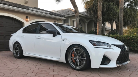 Lexus GSF on HRE S104