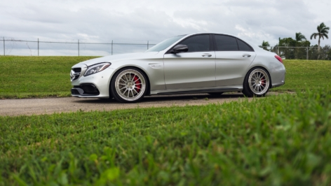 Mercedes C63S on HRE Classic 303