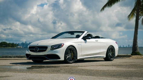 Mercedes S63 AMG Cabrio on HRE P104 with Akrapovic Exhaust
