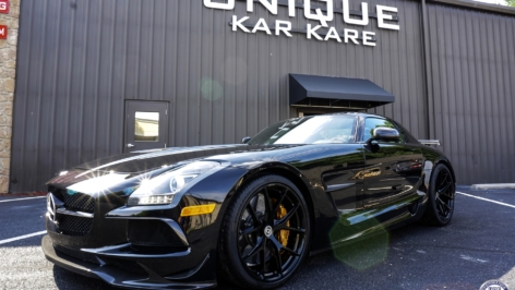 Mercedes SLS AMG Black Series on HRE P101