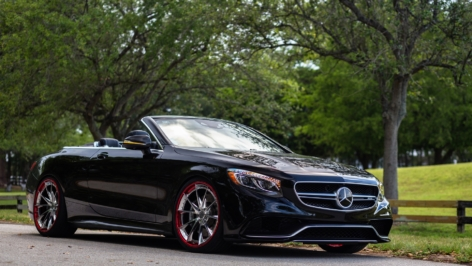 Mercedes S63 AMG Convertible on HRE S204