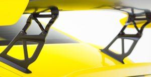981 CAYMAN GT4 V-CS Aero Riser Extensions Black Aluminum