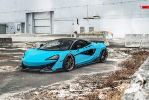 McLaren 600LT Miami Blue on ANRKY AN11