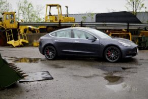 Tesla Model 3 on HRE RC103
