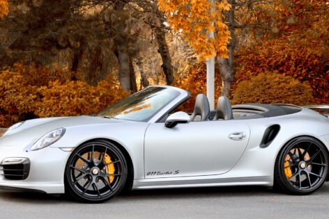 Porsche 991.1 Turbo S Cabriolet on HRE P101